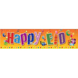 Happy Eid Jumbo Banner (Orange)