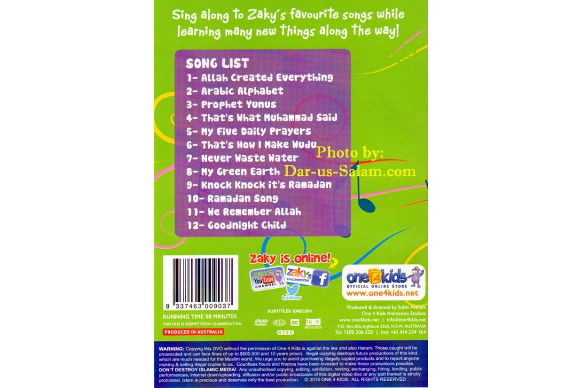 Let's Learn and Sing Along with Zaky (DVD) - Dar-us-Salam