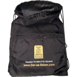 Drawstring Backpack with Front Zipper Pocket