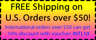 FREE Shipping on U.S. Orders over $50